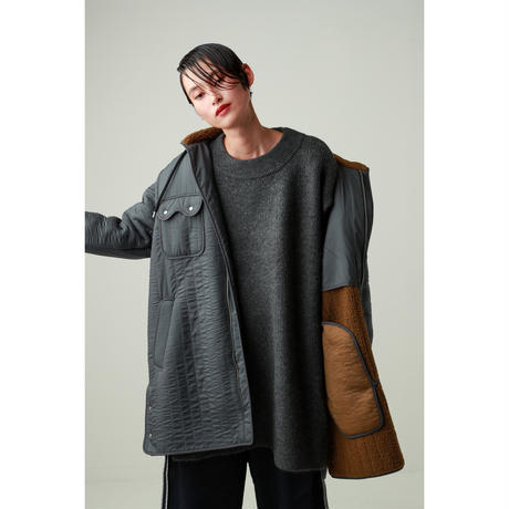 QUILTING 2WAY HOODIE COAT(CB2016)