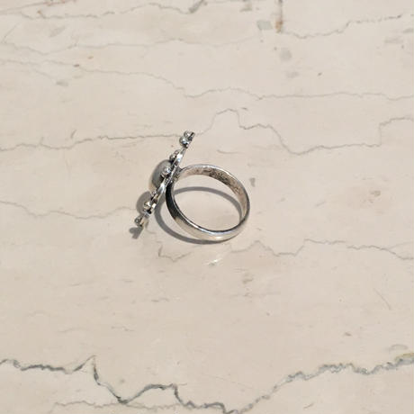 SILVER LARGE CONCHO RING(EA1205)