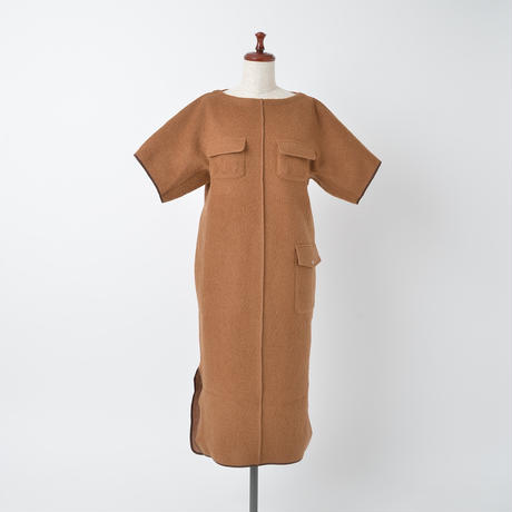 RAISED BACK  BELTED DRESS(OB2004)