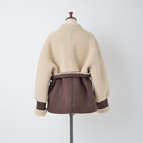 ECO MOUTON BELTED COAT(CB2009)