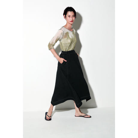 OXFORD MIDDLE SKIRT(SC1017A)