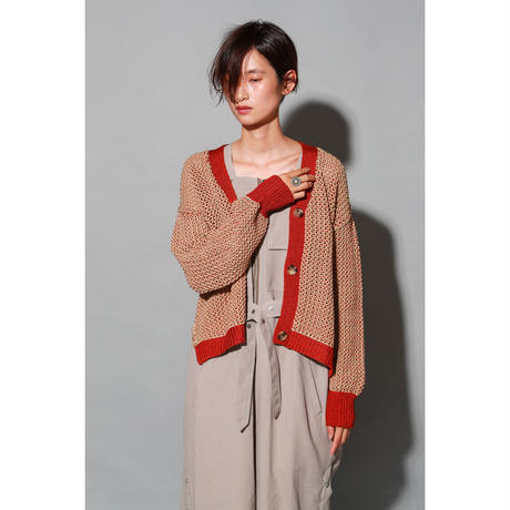 PLATING STITCH KNIT CARDIGAN(KC1006)