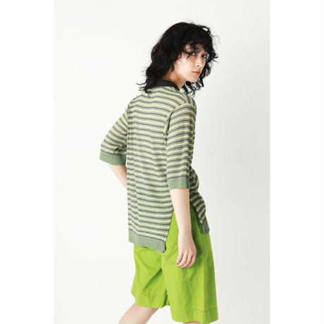 PLEATS KNIT POLO