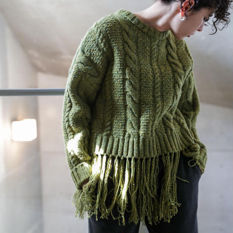 CABLE KNIT PULL OVER(KB2021)