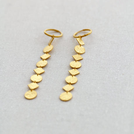 GOLD PLATE LEAD EARRINGS(EA1215)