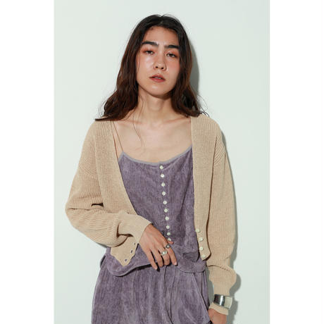 QUINTED KNIT CARDIGAN(KB1014)
