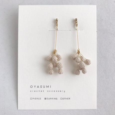oyasumi | PEPPER イヤリング / きなり