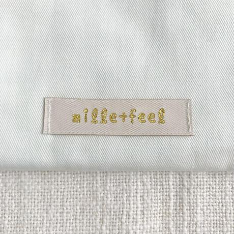 mille+feel     アップリケ巾着ポーチ(フルーツ)/  LEMON