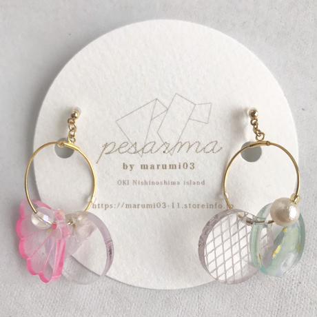 marumi03 | 【pesarma by marumi03】寒天海かざり イヤリング