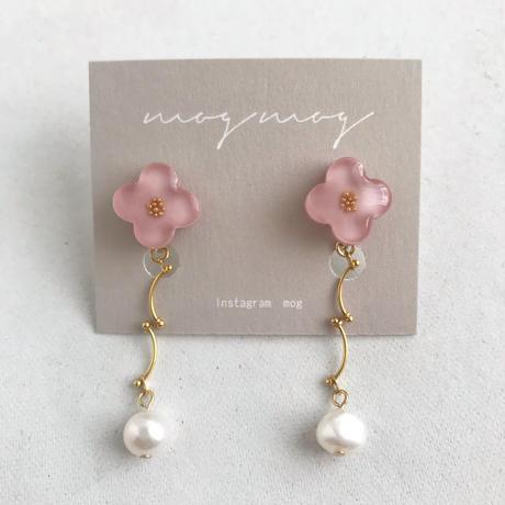 MOG MOG     おはなピアス・イヤリング / 淡水パール・ピンク