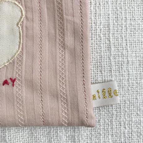 mille+feel    アップリケスリム巾着ポーチ / BEAR