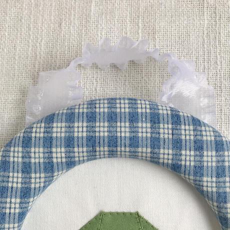 藤色  |  折り紙アニマルの額飾り(大)/  いぬ