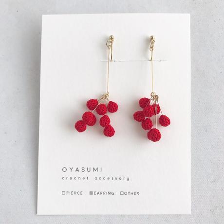 oyasumi | PEPPER イヤリング / 赤