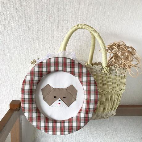 藤色     折り紙アニマルの額飾り(大)/  くま