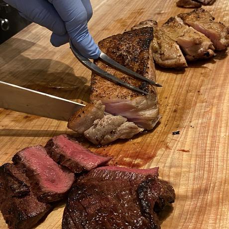 【10/1リニューアル!/送料無料】牛ハラミ・塩豚・鶏モモ肉「MTマリネBBQ食べ比べセット」(720g)