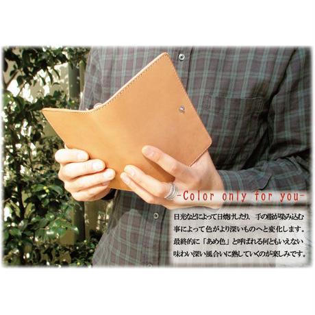 【バイブルサイズ】6穴システム手帳用紙対応 本ヌメ革手帳バインダー【m16n】