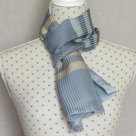 Blå Form シルク スカーフ