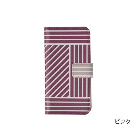 Blue Lines: iPhone 手帳型ケース (6~12 Plus, Max)※受注生産