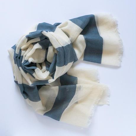 Blå Form ストール (シルク50% ウール50%)