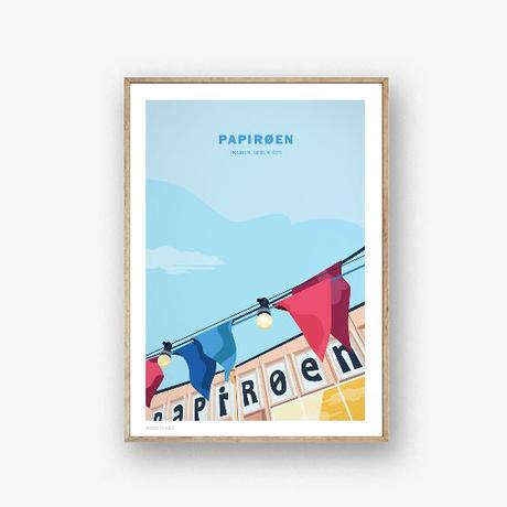 Wonderhagen ポスター「Papirøen」