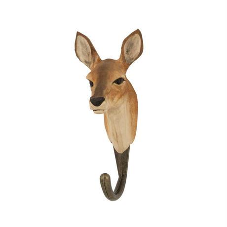 Wildlife Garden 手彫りアニマル・フック:ノロジカ