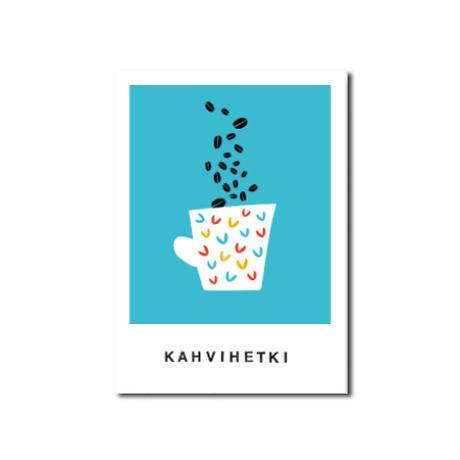 Kaviva Graphics ポストカード:Kahvihetki
