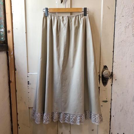 EURO vintage ボタニカルモチーフクロシェレース ペチコートスカート [9391]