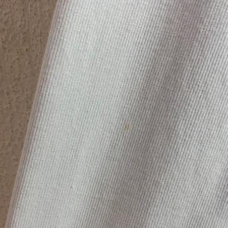 リブ×サテン デザイン アイスブルー ロングガウン [8892]