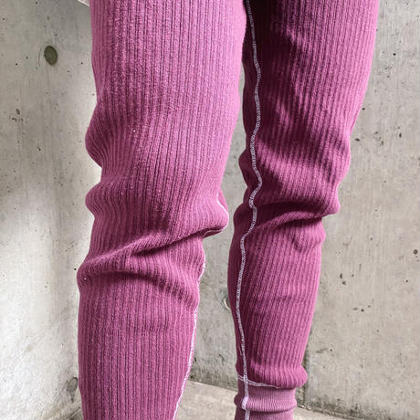 Swedish  military リブアンダーパンツ(PURPLE overdyed)[8186]