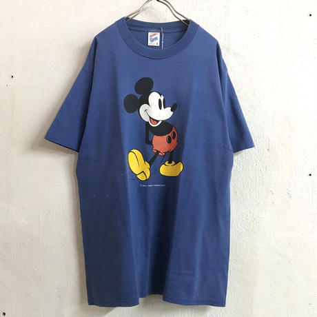 USA 90'S  VINTAGE ミッキープリントTシャツ (BLUE) [9021]