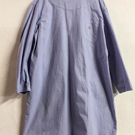 1950-60s Itary military サージカルガウン (purple overdyed) [8894]
