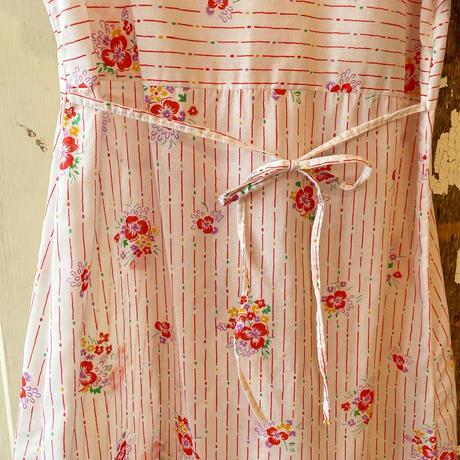 EURO vintageストライプ×花柄 ナイトドレス [2282]