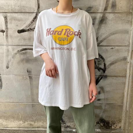 """Hard Rock cafe"" Washington,D.C. ホワイト Tシャツ[8905]"