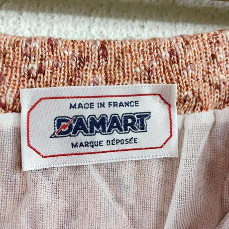 EURO vintage ミックスカラーリブニットスカート[8625]