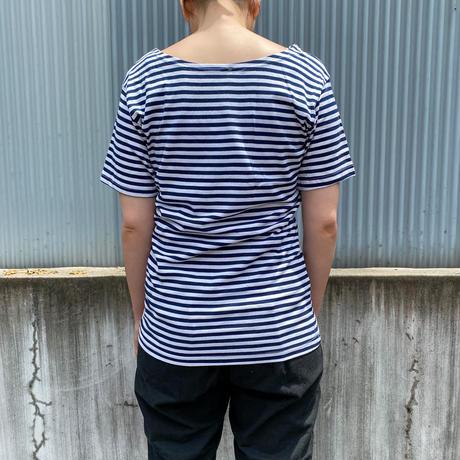 Russian type ショートスリーブボーダーシャツ(black×white) [8783]