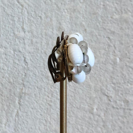 1940〜50s 白ビーズイヤリング[0096]