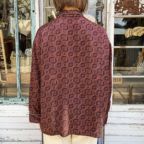 EURO vintage パジャマシャツ (BROWN) [7484]