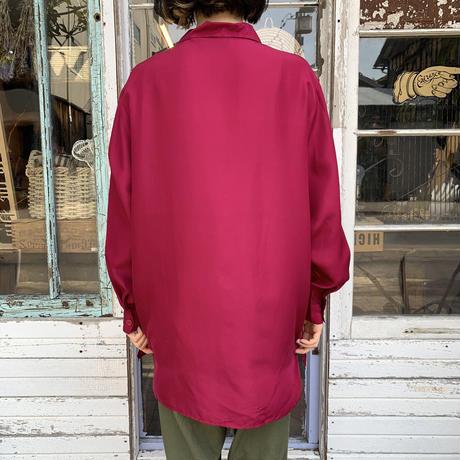 「Diane von furstenberg」 フューシャピンク シルクシャツ [7556]