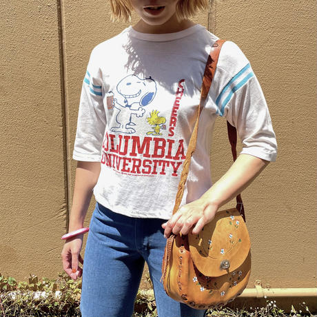 """1980's vintage """"ARTEX"""" スヌーピー フットボール Tシャツ[2121]"""