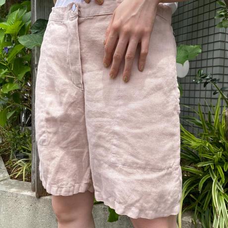 used リネン ショートパンツ(pink overdyed)[8765]