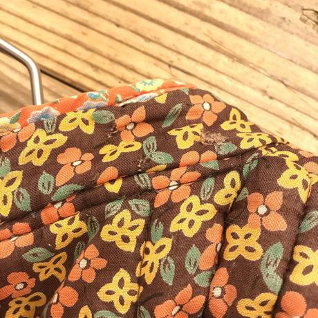 1970'S VINTAGE 小花柄キルティングジャケット(BROWN)[7231]