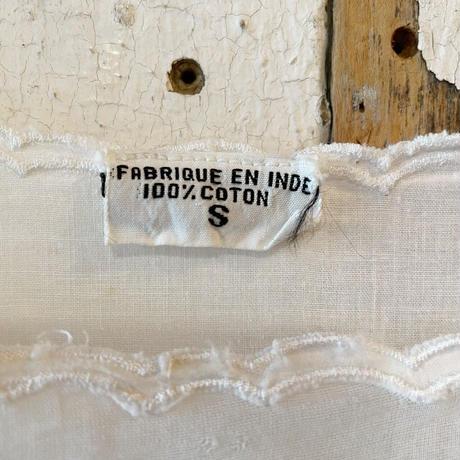EURO vintage レース切替インド綿ワンピース [ 2271]