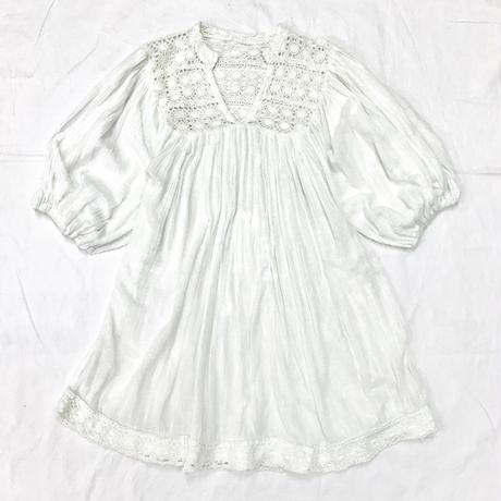 ヴィンテージ メキシカンコットンチュニック(WHITE)[7011]