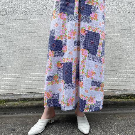 euro vintage ナイティ ドレス パッチワークプリント [2142]
