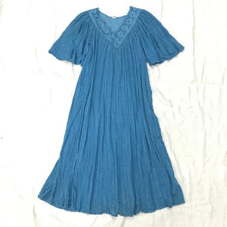 1970'S VINTAGE  ギリシャワンピース(BLUE)[7078]