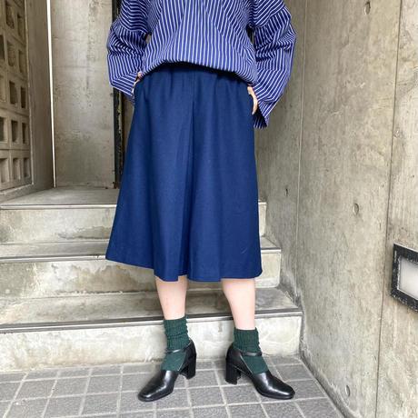 """""""pendleton"""" ネイビー Aライン ウールスカート[8528]"""