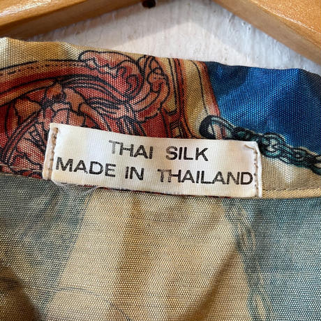 made in Thailand ヨーロピアン柄 シルクシャツ [9041]