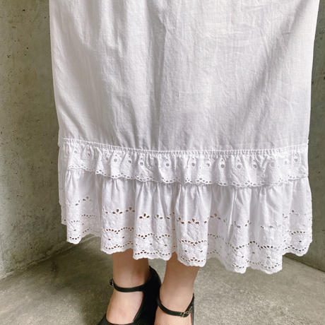 EURO vintage コットン ペチコートスカート[8069]
