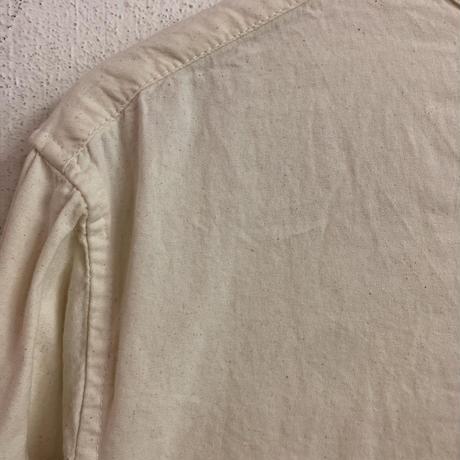 1950'S Bulgaria type ノーカラーシャツ (ivory) [7516]