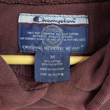 Champion リバースウィーブ カレッジプリント スウェット(WINE RED)[7511]